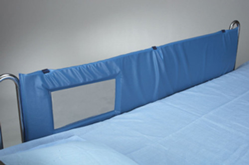"Thru-View Vinyl Bed Rail Pads, 72""L - Large Window"