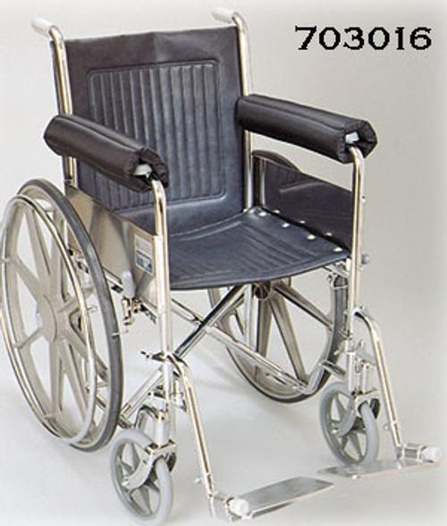 Wheelchair Foam Padded Nylon Half Armrest Pads