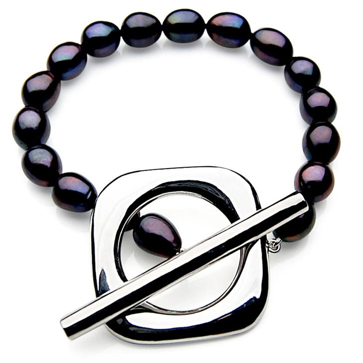 FB012 (AAA 11mm Drop Freshwater Pearl Bracelet Silver clasp )