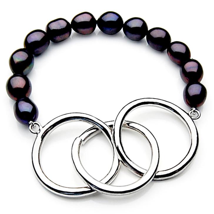 FB014 (AAA 11mm Drop Freshwater Pearl Bracelet Silver clasp )