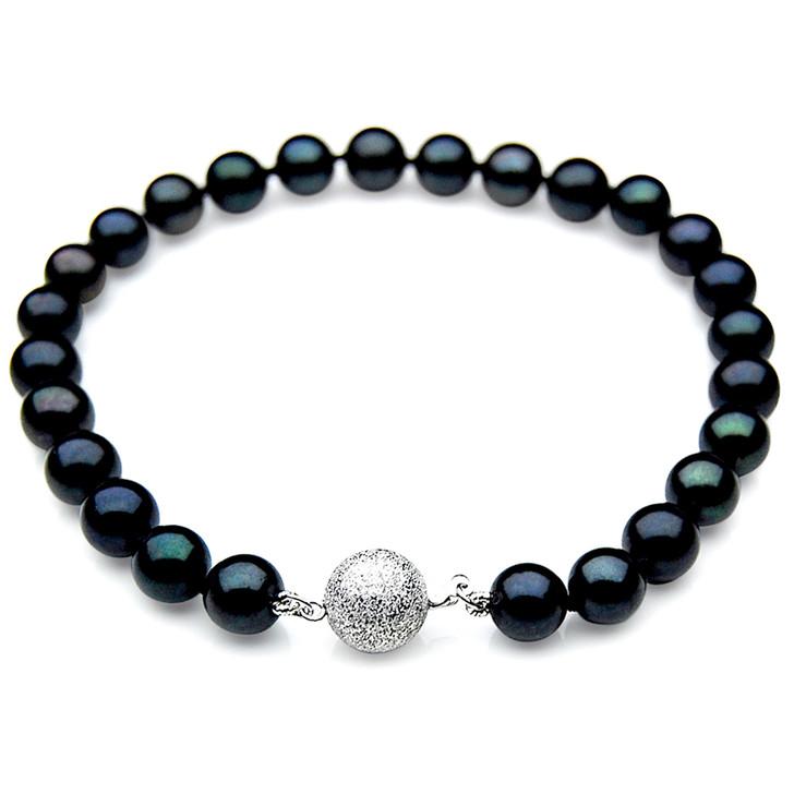 AB011 (AAA 7-7.5mm Japanese Akoya Saltwater Pearl Bracelet gold clasp )