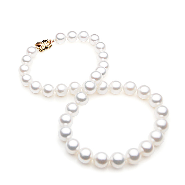 SN012 (AAA 13-15 mm Australian South Sea Pearl Necklace Gold Clasp )