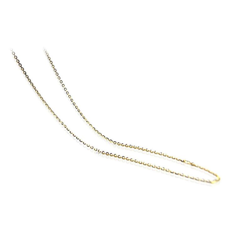 "chain 02 (1.4 MM ITALIAN 18K (750) YELLOW GOLD CHAIN 45CM , 18"" LONG )"