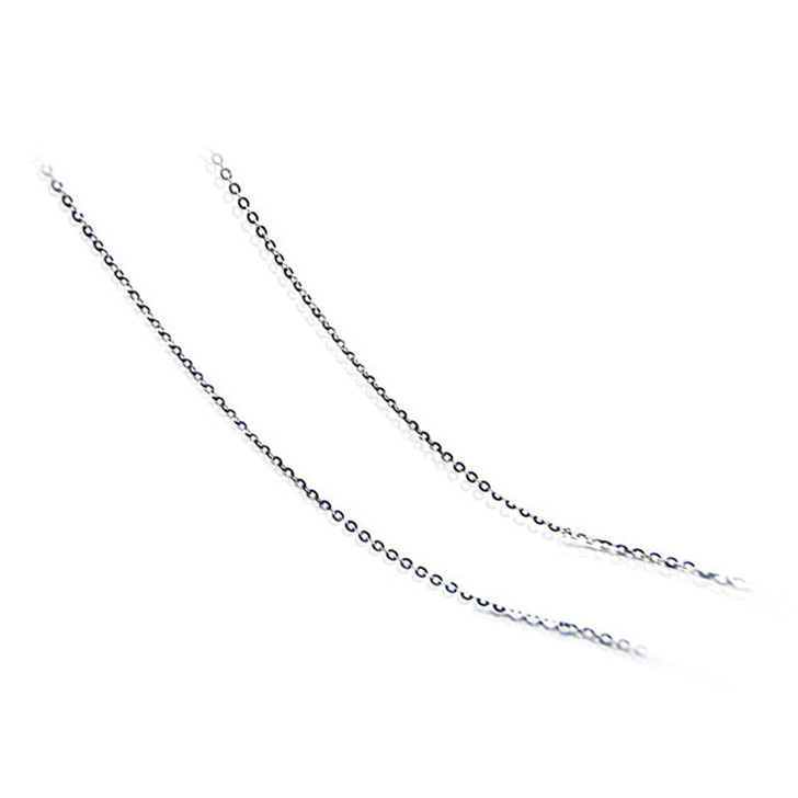 "chain 03 (1.7 MM ITALIAN 18K (750) WHITE GOLD CHAIN 45CM , 18"" LONG )"