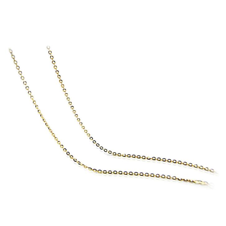"chain 04 (1.7 MM ITALIAN 18K (750) YELLOW GOLD CHAIN 45CM , 18"" LONG )"