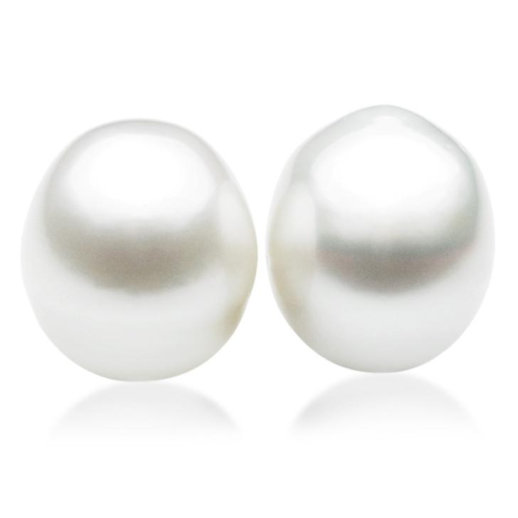 SL028 (AA+ 17mm White Australian South Sea Pearl  Loose Pearls Pair) $2,499
