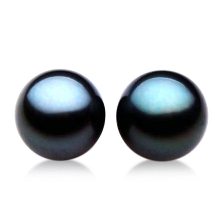 TL002 (AAA 10mm Tahitian Black pearl Loose Pearls Pair  ) $ 999