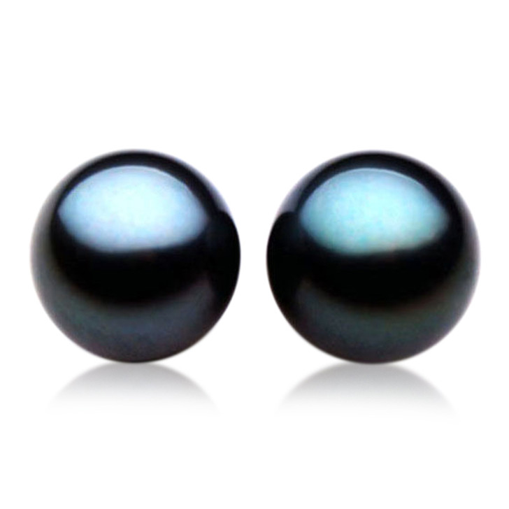 TL006 (AAA 12mm Tahitian Black pearl Loose Pearls Pair )$1,719