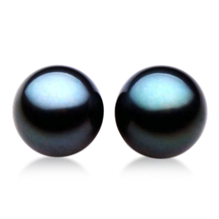 TL008 (AAA 13mm Tahitian Black pearl Loose Pearls Pair )$2,799