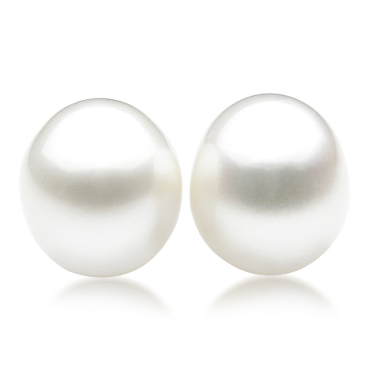 SL029 (AA+ 16mm White Australian South Sea Pearl  Loose Pearls Pair) $2,399