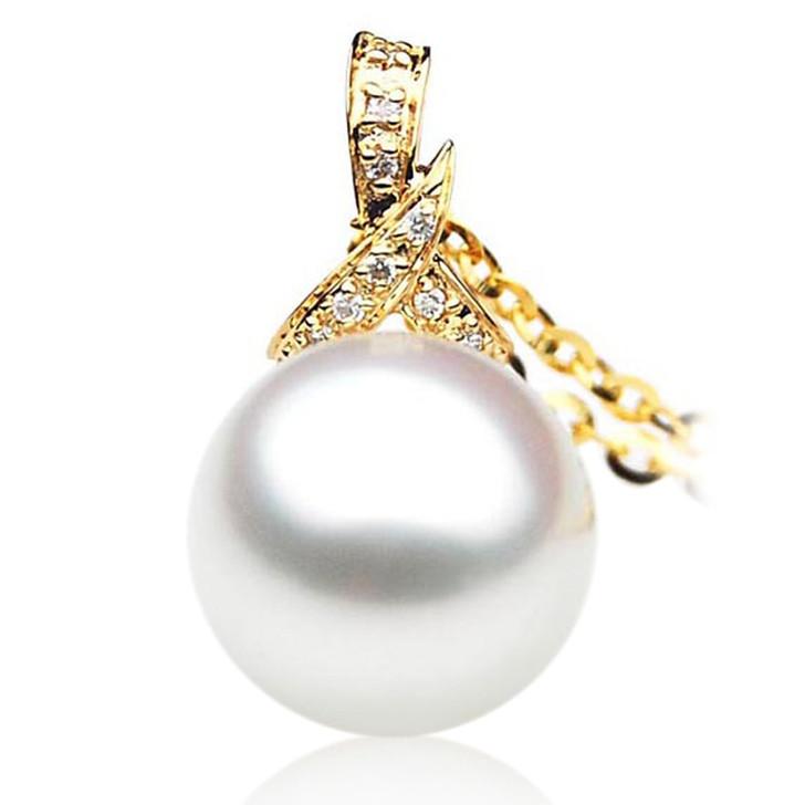 SP011 (AAA 11mm Australian South Sea pearl Pendant In 18k Gold )