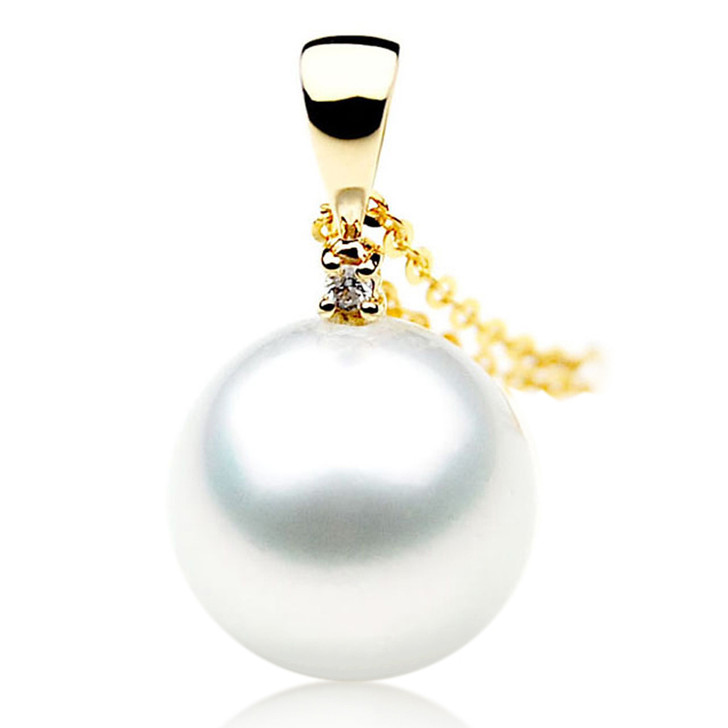 SP015 (AAA 11mm Australian South Sea pearl Pendant In 18k Gold )