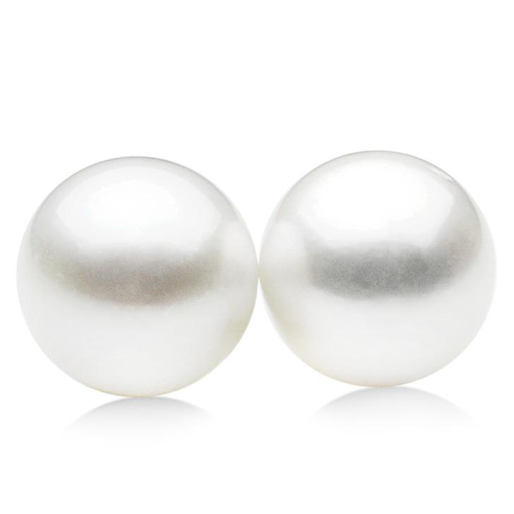 SL022(AA+ 14.3mm Australian South Sea Pearl  Loose Pearls Pair) $1,899