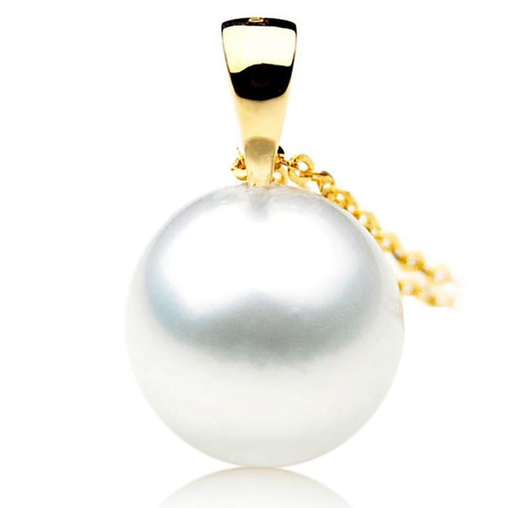 SP017 (AAA 12mm Australian South Sea pearl Pendant In 18k Gold )
