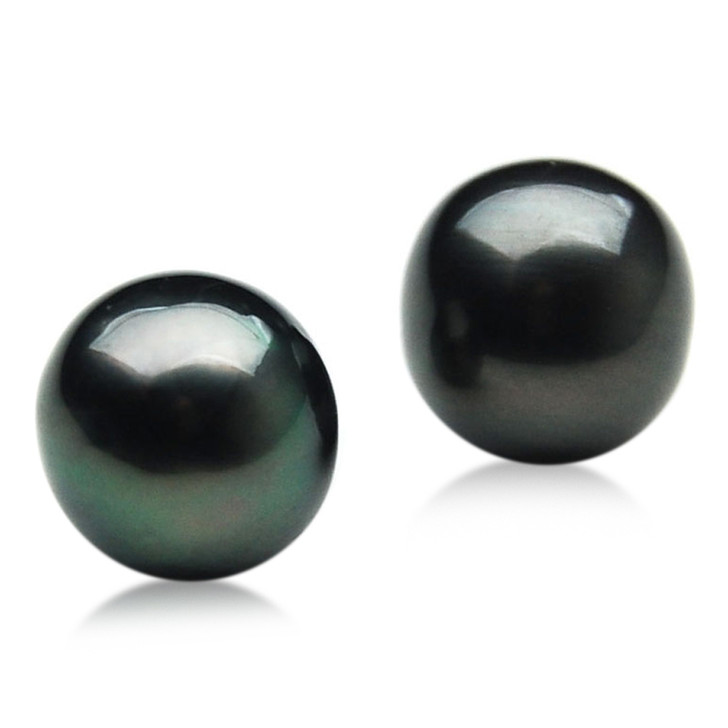 TL018 (AA+ 11.5mm Tahitian Black pearl Loose Pearls Pair )$919