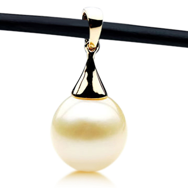 SP160 (14.5mm Australian South Sea pearl Pendant 18k Yellow Gold