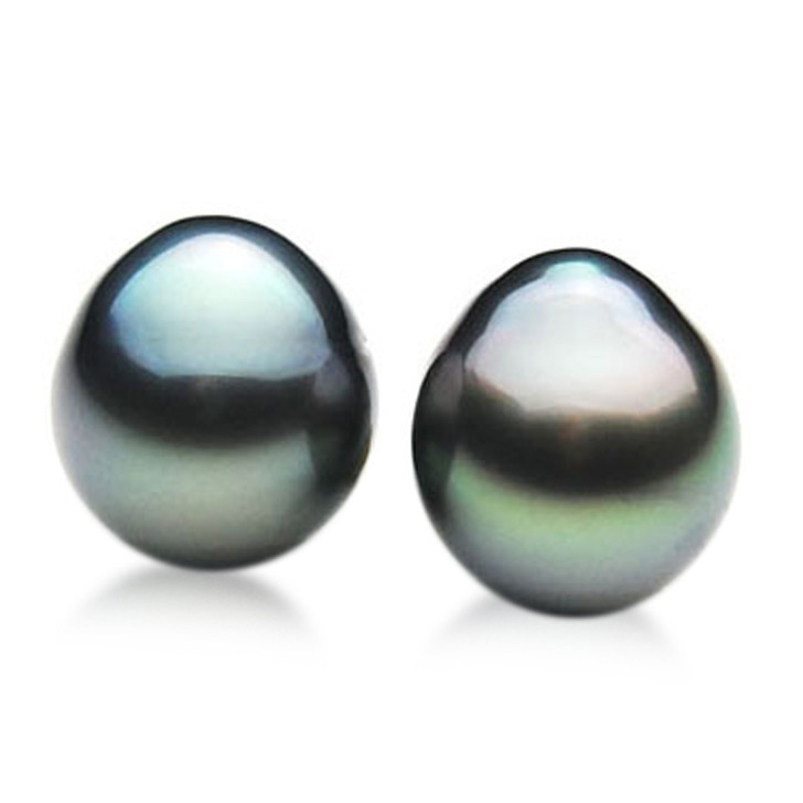 TL038 (AA 11mm Tahitian Black pearl Loose Pearls Pair )$559
