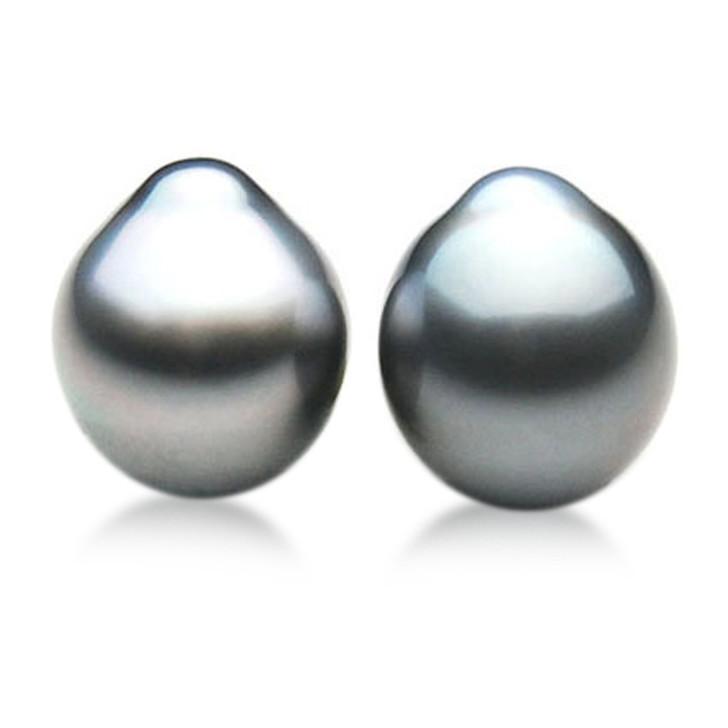 TL041 (AA 11.5mm Tahitian Gray pearl Loose Pearls Pair )$699