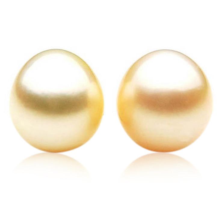 GL019 (AA+ 13 mm Australian Golden South Sea Pearl Loose pearls Pair )$1,399