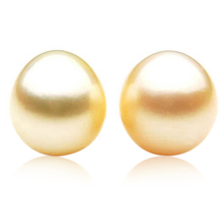 GL019 (AA+ 13 mm Australian Golden South Sea Pearl Loose pearls Pair )$1,399