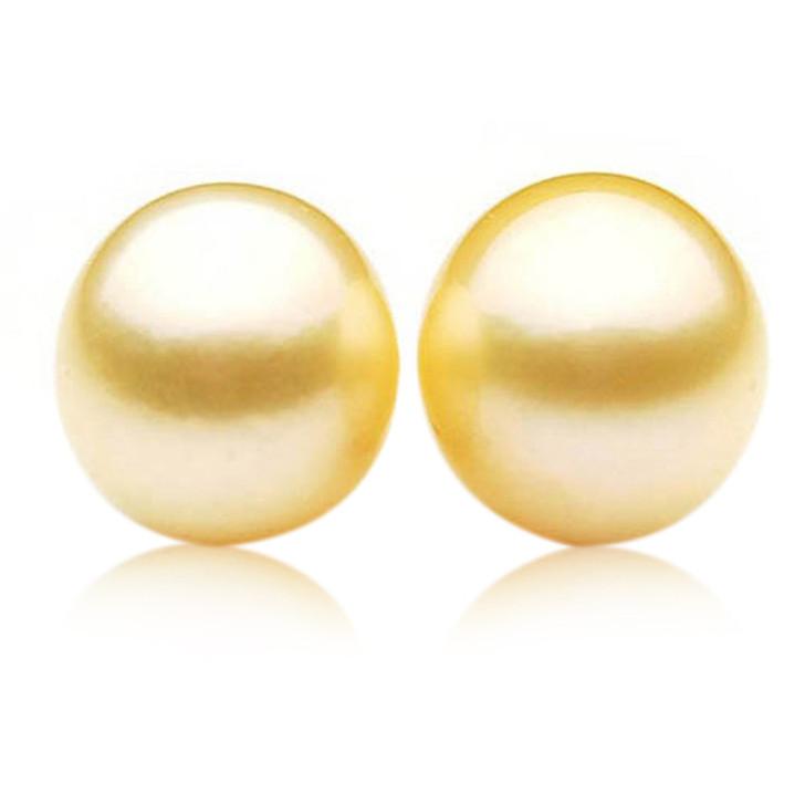 GL020 (AA+ 13 mm Australian Golden South Sea Pearl Loose pearls Pair )$1,499