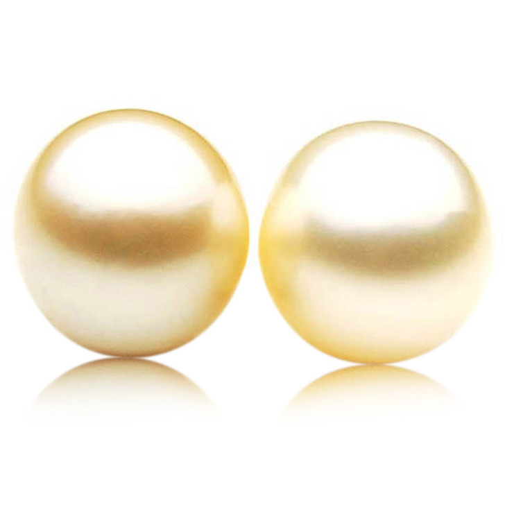 GL021 (AA+ 13.2 mm Australian Golden South Sea Pearl Loose pearls Pair )$1,499