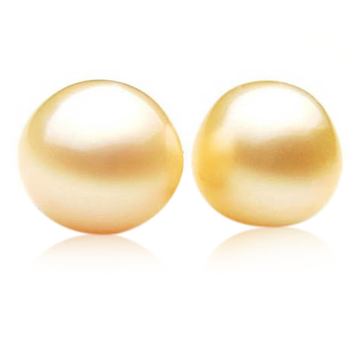 GL024(AA+ 12.5 mm Australian Golden South Sea Pearl Loose pearls Pair )$1,399