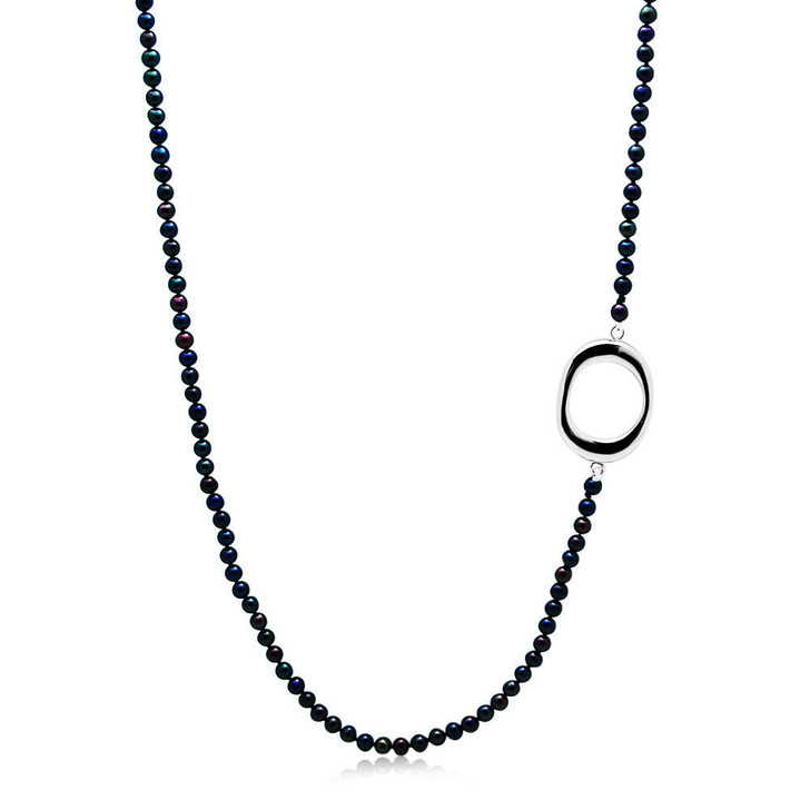 FN026 (AAA 5mm Freshwater Pearl Necklace Silver Clasp)
