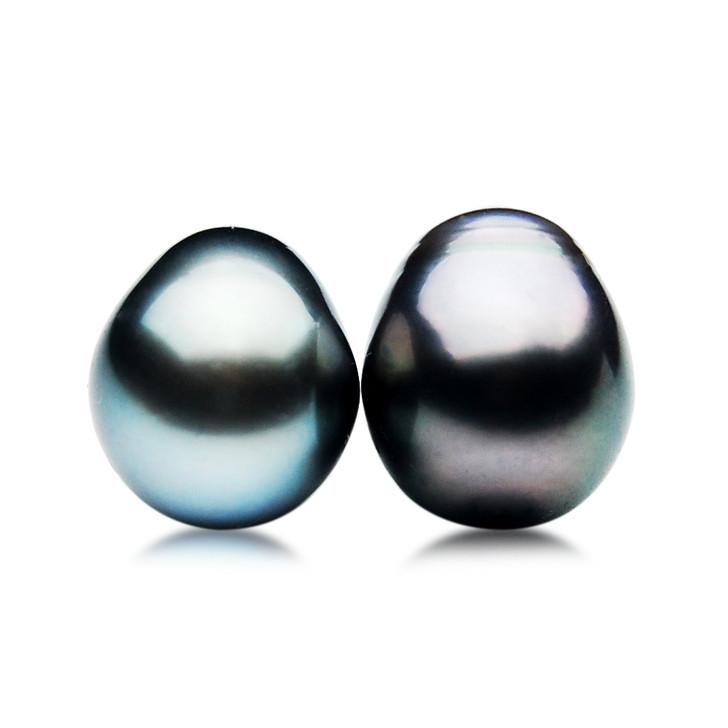 TL068 (AA 14mm Tahitian Black Pearl Loose Pearls Pair ) $ 799