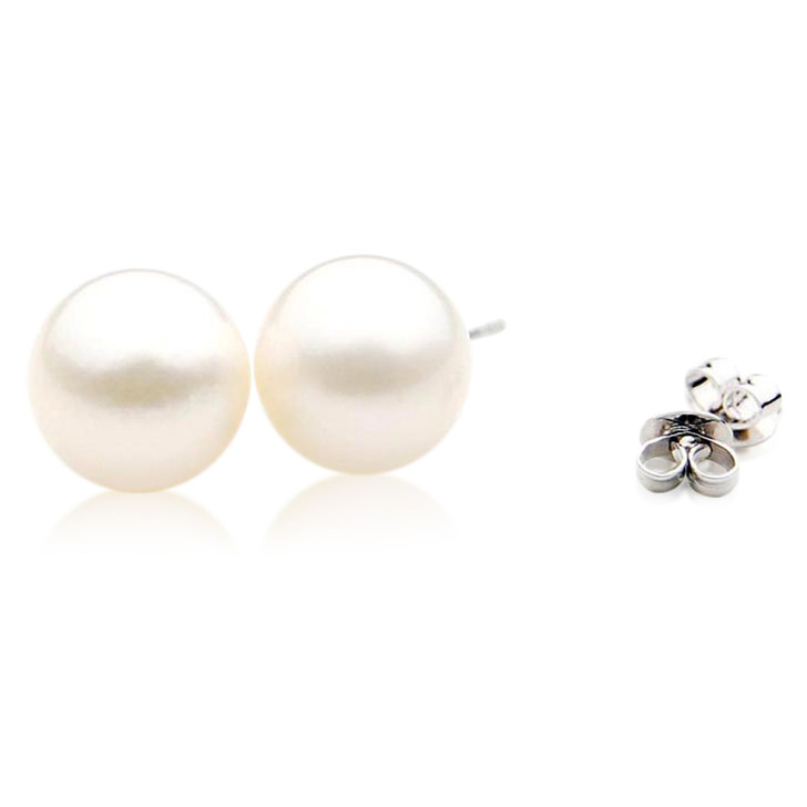 SE118  (AA 11mm Australian South Sea Pearl Earrings In 18K Gold