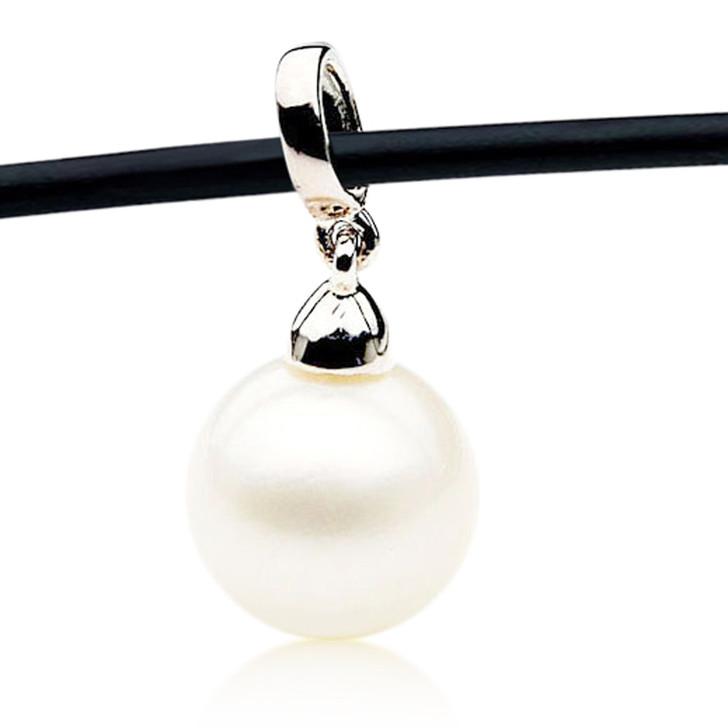 SP128 (AA 11mm Australian South Sea pearl Pendant In Silver )