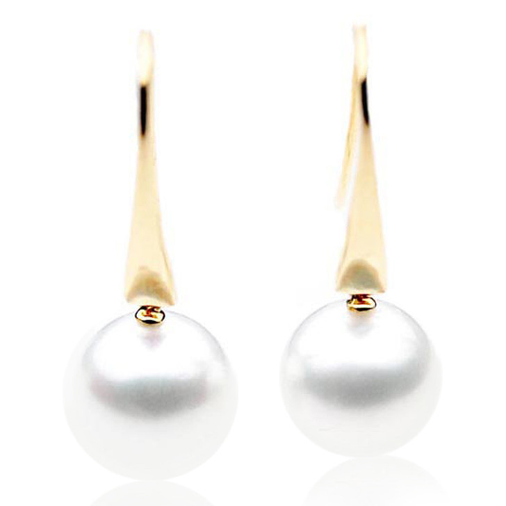 SE008 (AAA 11mm Australian South Sea Pearl Earrings in 18k Gold)