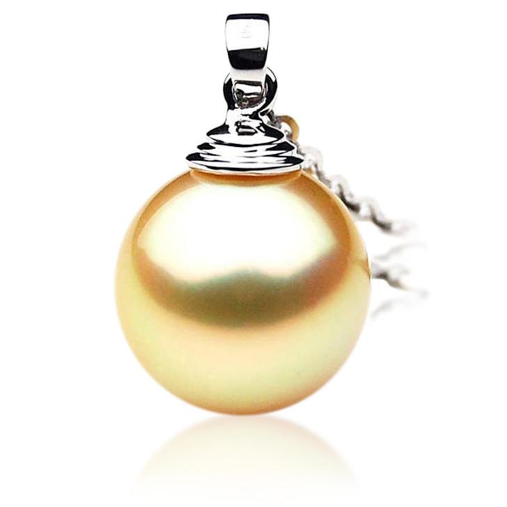 GP049 (AAA 13mm Australian Golden South Sea Pearl Pendant 18K Gold)