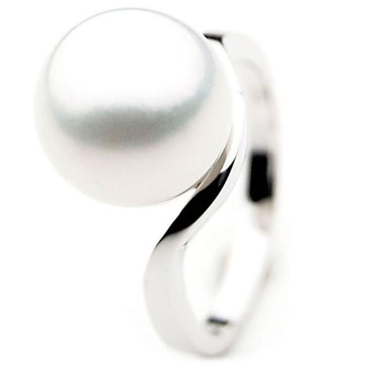 SR048 (AAA 14mm Australian south sea White pearl In18k White gold)