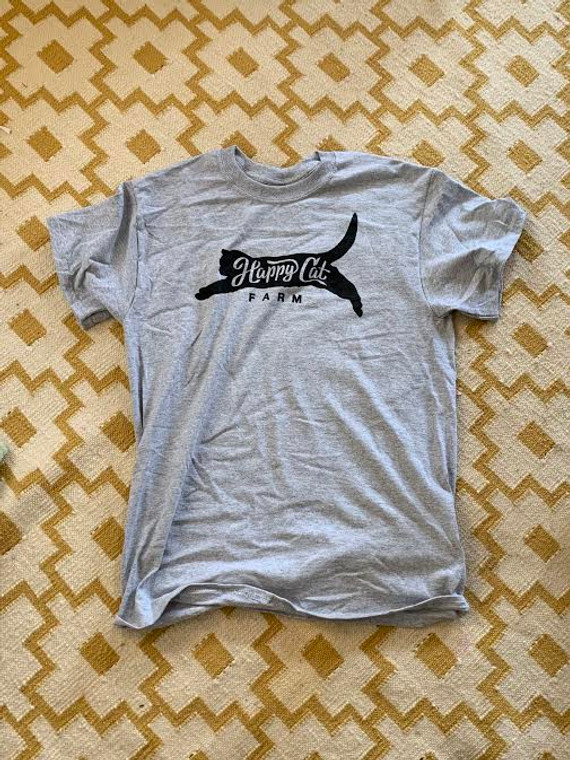 Happy Cat Farm T-shirt Small