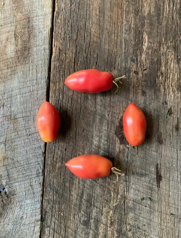 Pink icicle heirloom tomato seeds