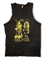 Fire Hydrant Patent Art Tank Yellow