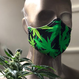 Bandana Face Masks Cannabis