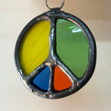 Stained Glass Peace Sign 201