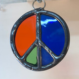 Stained Glass Peace Sign 202