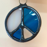 Stained Glass Peace Sign 203