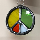 Stained Glass Peace Sign 204