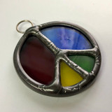 Stained Glass Peace Sign 205