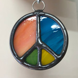 Stained Glass Peace Sign 206