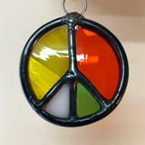 Stained Glass Peace Sign 207