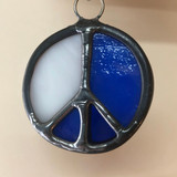Stained Glass Peace Sign 208