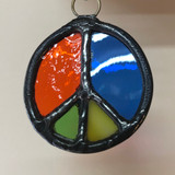 Stained Glass Peace Sign 209