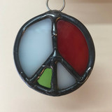 Stained Glass Peace Sign 210
