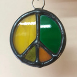 Stained Glass Peace Sign 211
