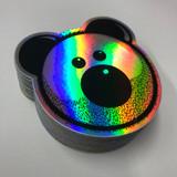 Holographic Beardy Bear Sticker
